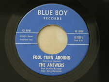"ANSWERS FOOL TURN AROUND BLUE BOY orig US G45 GARAGE PUNK 7"" 45 EX HEAR"