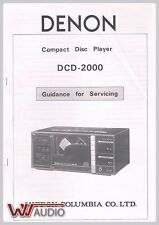 Denon DCD 2000 CD Player Service Manual Service Manual