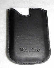 BlackBerry Leather Pocket Sleeve Pouch Case for Curve 8300 8310 8320 Black OEM