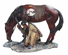 "7"" Native Indian Statue Figure Figurine Warrior Indio American North Horse"