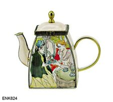 KELVIN CHEN Enamel Mini Hand painted Copper Teapot - Tea Party/Mary Cassatt
