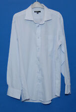 ~BLUE & WHITE CHECK LONG SLEEVE SHIRT WITH COLLAR~SIZE 16.5 NECK~