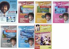 BOB ROSS complete Edition 11Std WORKSHOP Landscapes FLOWERS 7 DVD Sammlung NEW