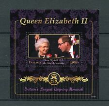 Tanzania 2015 MNH Queen Elizabeth II Longest Reigning Monarch 1v S/S Stamps