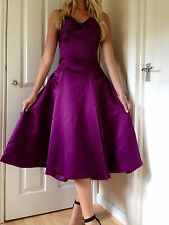 Vintage Designer Bridesmaid Cocktail Ball gown Party Dress Size 10 - 12 Purple