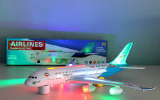 KIDS TOY AEROPLANE AIRBUS A380 WITH LIGHTS AND SOUND BIG SIZE BUMP AND GO