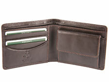 Visconti Heritage Mens Leather Wallet For Credit Cards & Banknotes - Brown