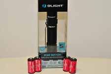 OLIGHT S30 Baton 4 SUREFIRE 3V 123A BATTERIES  INCLUDED 10 YEAR SHELF-LIFE