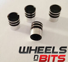 Black and Silver Striped Valve Caps Suitable For Mercedes-Benz Cars Vans SUV