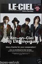 """JAPAN L'Arc-en-Ciel Official Fan Club Magazine Extra Number """"LE-CIEL"""""""