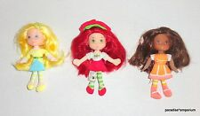 "Strawberry Shortcake Plush Mini Doll Lot Set Hasbro 2008 Orange Blossom 6"" Dolls"