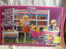 Very Rare Barbie & Kelly Supermarket Playset Arco New Sealed 1996