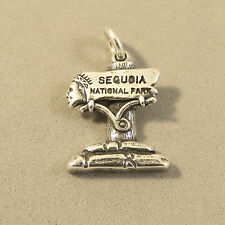 .925 Sterling Silver SEQUOIA NATIONAL PARK SIGN CHARM Pendant CA NEW 925 TR129