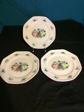Lot of 3 Avon Sweet Country Harvest Octagonal Dinner Plates 9 3/4 Inch
