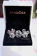 Pandora Mother's Day Disney Lot Minnie Mickey Sparkling Portraits, Infinity Love