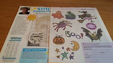 CROSS STITCH CHART STITCH A STAR FREDDIE FLINTOFF PORTRAIT & 12 HALLOWEEN