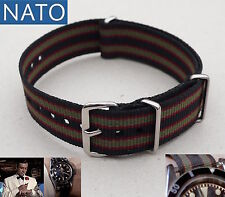 BRACELET MONTRE NATO 22mm (bond) dive mechanical chronograph military watch