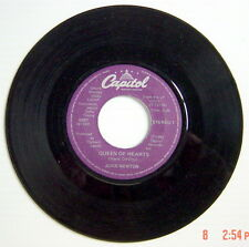 ONE 1981'S 45 R.P.M. RECORD, JUICE NEWTON, QUEEN OF HEARTS + RIVER OF LOVE
