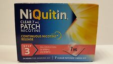 NIQUITIN CLEAR 7MG PATCH NICOTINE STEP 3 - 7 PATCHES *