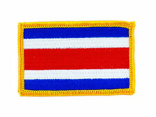 FLAG PATCH PATCHES COSTA RICA IRON ON COUNTRY EMBROIDERED WORLD FLAG