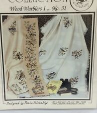 Crossed Wing Collection WOOD WARBLERS Cross Stitch Pattern Bird Afghan Bell Pull