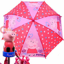 Peppa Pig Pink HEART umbrella - BRAND NEW  Licensed Product For Girl
