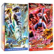Pokémon XY8 BREAKthrough Mewtwo Blue Red Set Booster Box Packs 300 Cards Korean