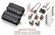 EMG Fat 55 Black Retro Active Humbucker Pickup Set w/ Pots & Solderless Wires
