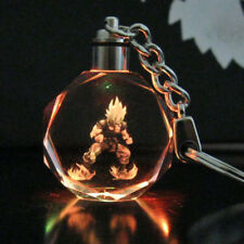 Saiyajin Goku Dragon Ball Dragonball Z Crystal Key Chain LED light Pendant