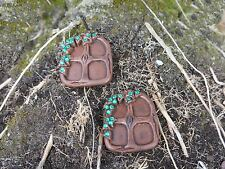 BLING 2 x  SMALL FAIRY WINDOWS WITH RHINESTONE COMPLIMENTS OUR FAIRY DOORS - NEW