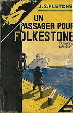 RARE EO MASQUE N° 152 + JAQUETTE + J.S.FLETCHER : UN PASSAGER POUR FOLKSTONE