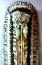 Native American Navajo (Tatanka) BUFFALO HORN 68 inch Double Trailer Headdress