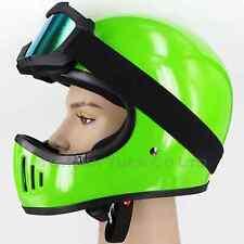 CYC Vintage Style Off-Road Motocross 3-Snap Helmet Green DOT Large for Kawasaki