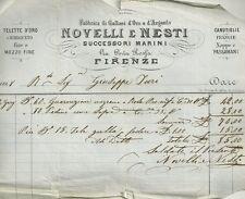 Fabbrica di Galloni d'Oro e d'Argento Novelli e Nesti in Firenze 1868
