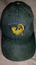 Lounging Lizard Cute Strapback Green Cotton Embroidered Lizard Baseball Cap Hat