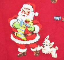 NEW Nick&Nora 2pc Flannel pjs VINTAGE SANTA RED VELVET sz XS pajamas