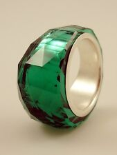 Swarovski Nirvana Petite Ring Emerald Size 52 # 1166809 BNIB