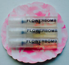 FLOWERBOMB EDP by VIKTOR & ROLF /  2ml x 3 PERFUME SPRAY SAMPLE VIALS = 6ml's