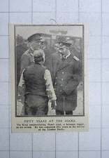 1917 Henry Cain Foreman Rigger Completed 50 Years At A London Docks