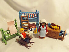 Playmobil Victorian Bunk Bed Nursery Room 5311, Doll house 5300 Furniture w Maid