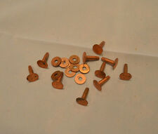 "Copper Rivets and Burrs - #9 - 5/8"" - Quantity of 100 (B73)"