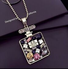 Fashion Women Pendant Sweater Long Chain Crystal Glass Necklace Jewelry