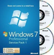 Microsoft Windows 7 Professional PRO 32/64 Full Version & Upgrade SP1 2Discs NEW