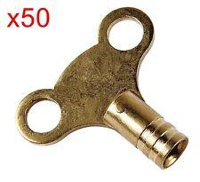 50 x finitura in ottone chiavi RADIATORE SPURGO-Idraulica Strumento chiave-veloce consegna gratuita