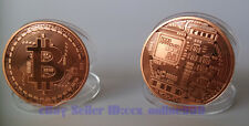 Nice Bitcoin Collectible Physical Coin 1Ounce Pure Red Copper 1Pcs Free Shipping