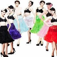 Retro Rock n Roll Rockabilly Tutu Vintage Petticoat Tea length Slip Lolita