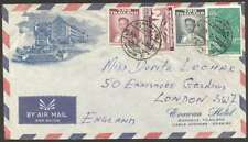 Thailand To UK Airmail Cover w 4 Stamps L@@K