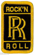 "Rolls Royce Rock 'N' Roll embroidered Patch 6cm X 4cm (2 1/2"" X 1 1/2"")"
