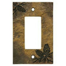 Pinecone Decora Switch plate (Slate Look) by Big Sky Carvers
