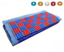 Acupressure 72 Pyramid Yoga Chips Seat for Yoga /Chair /Car + Free 5 Sujok Rings